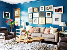 5 Insider Tips for Using a Bold Wall Color: Designer Taylor Jacobson shares how to translate the popular saturated look into your own home. via @domainehome