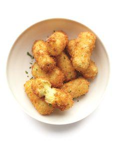 Potato Croquettes.  I added  mozzarella in the middle .