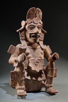 Seated Figure of Quetzalcoatl, Mexico, Veracruz, 600-900, Museo de Antropologia, Xalapa, Universidad Veracruzana, Xalapa, photo © 2012 Museum Associates/LACMA, by Jorge Pérez de Lara