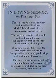In Loving memory of Wellito....our first Father's Day without him...
