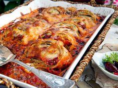 Палачинкови рула в доматен сос Lasagna, Turkey, Meat, Ethnic Recipes, Serbian, Food, Turkey Country, Essen, Serbian Language