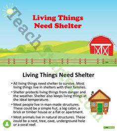 Living Things Need Shelter PowerPoint