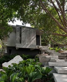 The Creek Hill Top House, Khaoyai Thailand Architecture and Landscape design by OPNBX Openbox Architects