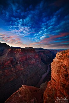 Natural Sceneries — The Night Sky ~ Grand Canyon National Park,...