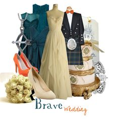 """""""Brave Wedding"""" I love the groom's outfit, lol! Disney Inspired Wedding, Disney Inspired Fashion, Disney Weddings, Disney Fashion, Disney Themed Outfits, Disney Bound Outfits, Disney Princess Fashion, Disney Style, Beautiful Outfits"""