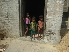 Kids seeing curiously