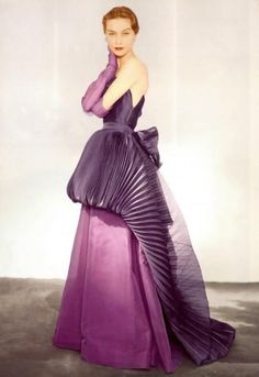 Elsa Schiaparelli couture, 1950s   photographed by Horst P. Horst for Vogue