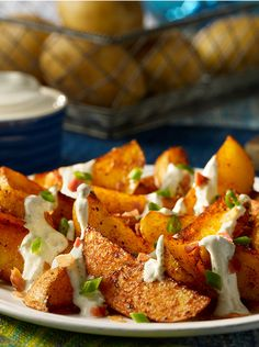 Ranch Potato Wedges Recipe from our friends at Daisy Sour Cream
