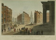 Ackermann's Repository- Cornhill, Lombard St,London 1810