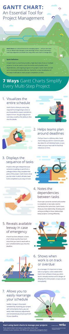 Gantt Chart Software: A Key Tool For Project Management (Infographic) Program Management, Change Management, Business Management, Management Tips, Business Planning, Ms Project, Software, Gantt Chart, Leadership Development