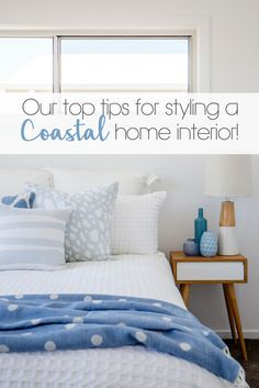 Coastal home styling: how to create the perfect beach house! Space Interiors, Coastal Homes, Gold Coast, Beautiful Beaches, Beach House, Comforters, Interior Design, House Styles, Bed