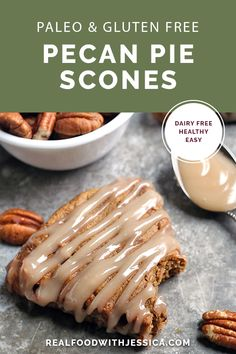 Low Unwanted Fat Cooking For Weightloss These Paleo Pecan Pie Scones Are A Fun Treat That Are Easy To Make And So Delicious Tender, Not Overly Sweet, And Pairs Great With A Cup Of Coffee. They Are Gluten Free, Dairy Free, And Naturally Sweetened. Paleo Recipes Easy, Gluten Free Recipes, Gourmet Recipes, Real Food Recipes, Paleo Food, Veggie Food, Paleo Dairy, Paleo Baking, Potato Recipes