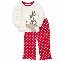 2-Piece Microfleece Christmas PJs    Bought for Vera, Violet, and Nora. Christmas morning will be CUTE.