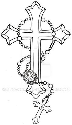 crown rosary diagram rosary diagram answers cross tattoos for men | gothic cross tattoo drawing and ...