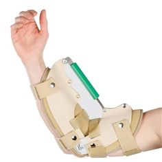 AliMed® Dynamic Elbow Extension and Flexion Splint helps maintain the gains in ROM achieved through elbow stretching and splint wear. The steel rod and turnbuckle mechanism in the dynamic elbow splint  provide a low-load stretch to the elbow joint to gradually reduce the contracture and progress the range of motion incrementally. #patient #safety #healthcare