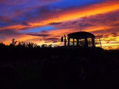 Farm life sunset, Northern Queensland