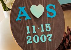 Faux Tree Carving Canvas  Love this.. and it's my hubby and I's initials.. will HAVE to Recreate!