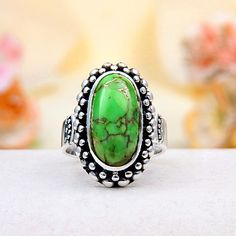 Lime Mohave Turquoise Ring