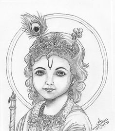 Pencil Sketch Of Gods Images Of Pencil Drawing Of God Krishna - Drawing Of Sketch - Drawing Sketch Gallery Pencil Sketch Images, Pencil Drawings Of Girls, Pencil Drawing Tutorials, Art Drawings Sketches, Easy Drawings, Drawing Ideas, Easy Sketches, Pencil Sketching, Pencil Shading