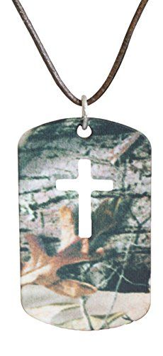 Realtree Jewelry AP Dog Tag Cross Pendant, Steel & Leather, Made in USA Camo Chique http://www.amazon.com/dp/B00PP0LT46/ref=cm_sw_r_pi_dp_mJFpvb04WXG8X