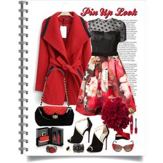 Pin Up Look, created by dreamfashionjewelry on Polyvore