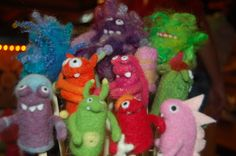 Moxie - Needle Felted Finger Puppets
