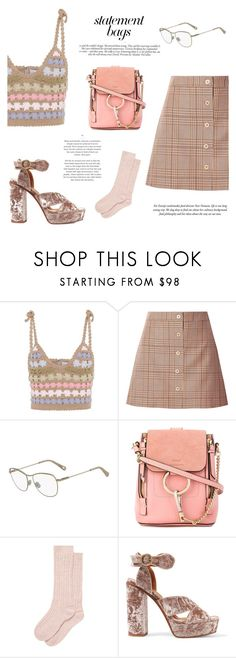 """""""Statement Bags #2: Chloe x Paul & JOe"""" by mariluz-garcia ❤ liked on Polyvore featuring SHE MADE ME, Paul & Joe, Chloé, Victoria Beckham, Brora and statementbags"""