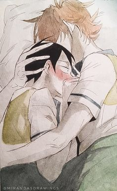 21:21 — Watercolor drawing of Jaerim and Yuri from the...