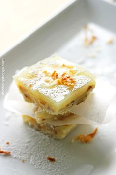 Toasted Coconut Lime Bars by It Bakes Me Happy