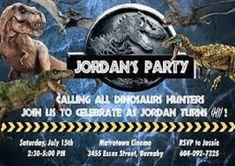Jurassic World Custom Invitations Birthday Party At Park Free