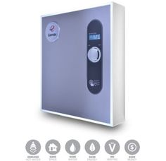 Eemax N/A 8 GPM, 27 Kilowatt, 240 Volt Whole House Electric Tankless Water Heater from the HomeAdvantage II Collection Work Meeting, Radiant Floor, Thing 1, Water Heating, Control Unit, Heating Element, User Interface, Innovation Design