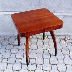 """Iconic Halabala´s coffee table design """"Pavouk"""" (spider) after restoration. Love the color! Coffee Table Design, Furniture Restoration, Vanity Bench, Vintage Furniture, Spider, Retro, Color, Instagram, Home Decor"""