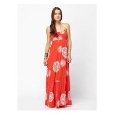 Sun Poem Dress Roxy via Polyvore