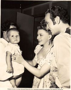 Ginger Rogers Magnificent Doll 1946 Young James Milo Stewart visits Ginger Rogers and David Niven on the set of Magnificent Doll.  The news release says he will play Ginger's son in the movie.