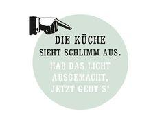 Die+Küche+sieht+schlimm+aus+...+Postkarte+von+Frieda-Werkstattladen+auf+DaWanda.com