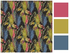 Congo - Harlequin Fabrics - A beautiful woven fabric, with a loose mosaic like design. Available in one colourway: Flamingo/Indigo/Olive. Please request sample for true colour and texture. Harlequin Fabrics, Tropical Birds, Tropical Fabric, Made To Measure Curtains, Curtains With Blinds, Tapestry Weaving, Congo, Painting Techniques, True Colors