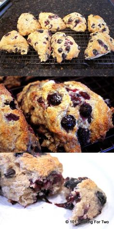 Low Fat Whole Wheat Blueberry Scones - 101 Cooking For Two
