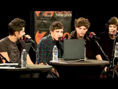 One direction @ z100    OMIGURSH! I love this vid.  KAYLENE ! You weren't helping in making me NOT laugh 8|