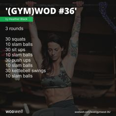 Abs And Cardio Workout, Baby Workout, Workouts, Wods Crossfit, Air Squats, Kettlebell Swings, Hiit, Fitness Inspiration, Push Up