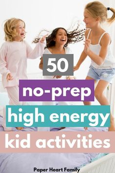 Awesome indoor kid activities that are NO PREP. Perfect for rainy days, cold weather, cabin fever, boys, girls, and those days when your kids have WAY too much energy and you dont want them fighting bedtime until 10pm.