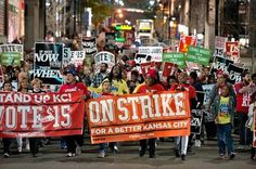 KC is no joke. They ran the streets last night. @Standup_kc! #FightFor15