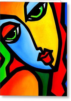 Wake Me Up - Original Abstract painting Modern pop Art large colorful woman by Fidostudio - Tom Fedro Abstract Face Art, Abstract Portrait, Pop Art Face, Modern Pop Art, Painting People, Painting Art, Art Paintings, Canvas Art, Modern Women