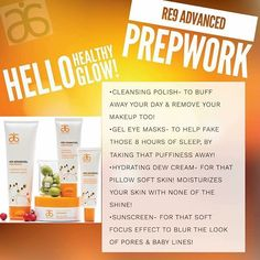 Our NEW RE9 Prepwork skincare! Youre gonna it! #re9prepwork #skincare #results #vegan #healthy #geleyemask #takecareofyourskin #antiaging #Arbonne #safesunscreen