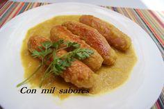 Con mil sabores: SALCHICHAS FRESCAS AL CURRY