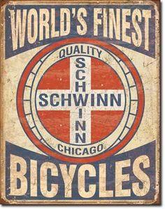 Retro Schwinn Bicycles Bike Parts Store Shop Garage Poster Picture