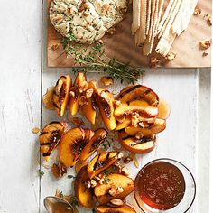 Grilled peach halves gain sweet, smoky flavor from a maple grilling plank: http://www.bhg.com/recipes/grilling/best-grilling-recipes/?socsrc=bhgpin051514planksmokedpeaches&page=8