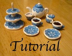 Miniature tea set to make