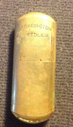 Vintage Brass Torrington Needle Case by HCW2 on Etsy