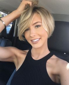 62 of the Popular Short Hairstyles & Haircuts for Thin Fine Hair - These haircuts are THE must if you are suffering from gradual thinning hair Bob Haircuts For Women, Short Bob Haircuts, Short Hair Cuts For Women, Short Summer Haircuts, Celebrity Short Haircuts, Popular Short Hairstyles, Bob Hairstyles For Fine Hair, Hairstyles Haircuts, Blonde Hairstyles