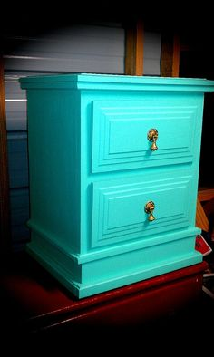 SOLD Painted Vintage Nightstand Bedside Table Side Table Painted Furniture